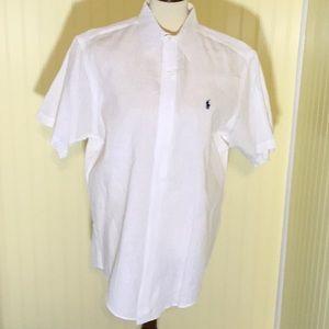 NWOT Ralph Lauren 100% Linen White button up